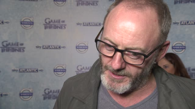 interview liam cunningham on his character still being in the series the appeal of the series at 'game of thrones' season 4 press launch at the... - liam cunningham stock videos & royalty-free footage