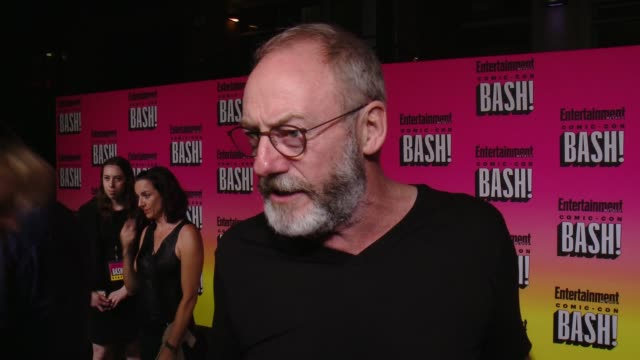 interview liam cunningham on his comiccon experience and why he wanted to celebrate the last night with ew at entertainment weekly hosts annual... - liam cunningham stock videos & royalty-free footage