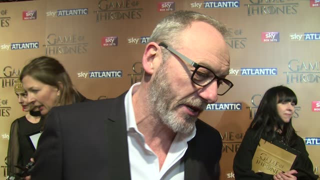 interview liam cunningham on the new series costars and the most powerful moments at 'game of thrones 5' world premiere on 18th march 2015 in london... - liam cunningham stock videos & royalty-free footage