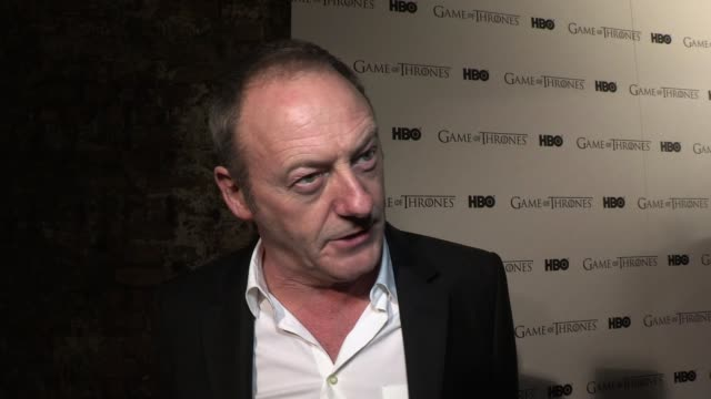 liam cunningham talks about the transition from being a viewer to a cast member before touching on what it's like to be on such a vast set and how he... - liam cunningham stock videos & royalty-free footage