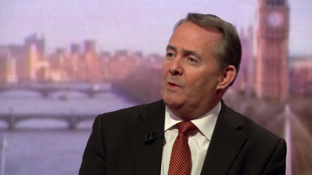 liam fox comparing the eu referendum and theresa may's confidence vote saying we have varying and somewhat inconsistent views of democracy - liam fox politician stock videos and b-roll footage