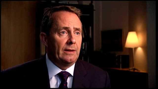 liam fox mp interview england london int dr liam fox interview sot debt is a strategic issue and countries that have large amounts of debt need to... - boy band stock videos & royalty-free footage