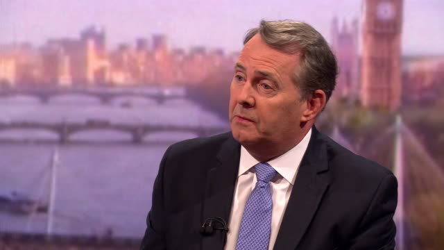 vídeos y material grabado en eventos de stock de liam fox saying there are mp's in northern ireland and scotland who would try to use a nodeal brexit to try and push for independence - liam fox político