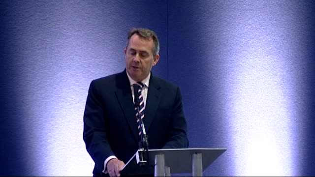 Liam Fox speech at the DSEi conference in London Fox speech SOT Successful exports is not just about selling equipment and capability increasingly...