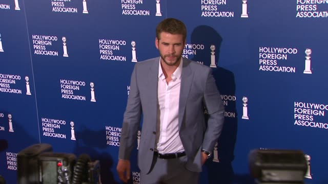 liam hemsworth at the 2013 hollywood foreign press association's installation luncheon in beverly hills, 08/13/13 liam hemsworth at the 2013... - the beverly hilton hotel stock videos & royalty-free footage