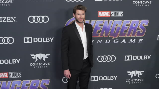 """liam hemsworth at the world premiere of marvel studios' """"avengers: endgame"""" at los angeles convention center on april 22, 2019 in los angeles,... - premiere stock videos & royalty-free footage"""