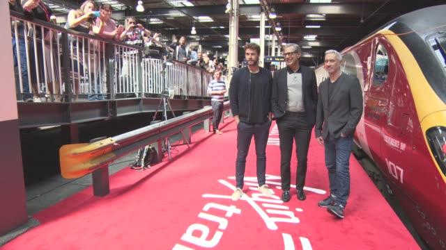 Liam Hemsworth Jeff Goldblum Roland Emmerich at 'Independence Day Resurgence' Photocall on June 06 2016 in London England