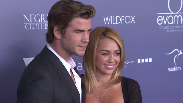 Liam Hemsworth Miley Cyrus at 2012 Australians In Film Awards Benefit Dinner on 6/27/12 in Century City CA