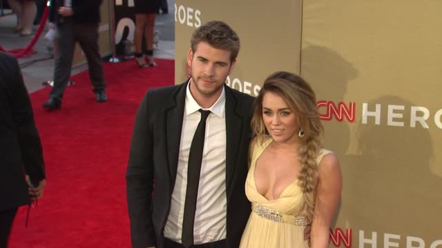 Liam Hemsworth Miley Cyrus at CNN Heroes An AllStar Tribute on 12/11/11 in Los Angeles CA