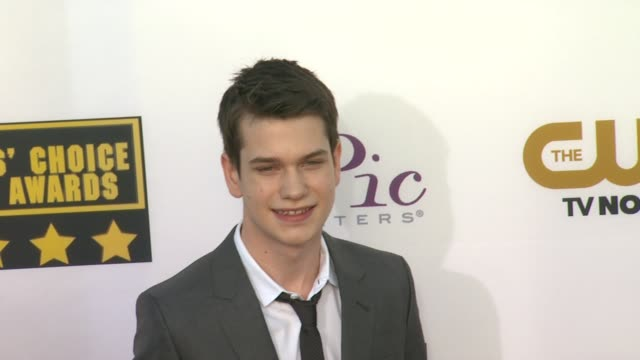 Liam James at 19th Annual Critics' Choice Movie Awards Arrivals at The Barker Hanger on in Santa Monica California