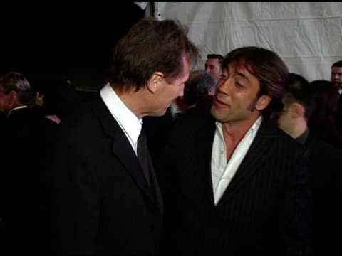 Liam Neeson and Javier Bardem at the 2005 Palm Springs International Film Festival Gala at Palm Springs Convention Center in Palm Springs California...