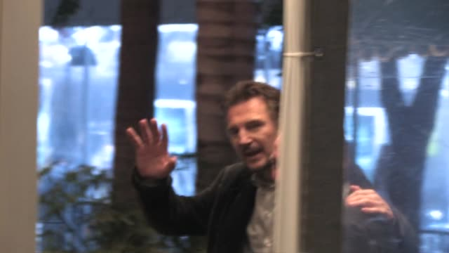 liam neeson at the premiere of 'unknown' in westwood at the celebrity sightings in los angeles at los angeles ca - westwood stock videos & royalty-free footage