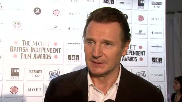 Liam Neeson his career receiving an award by the judges wanting to do more independent films the challenges of finding funding at the Moet British...