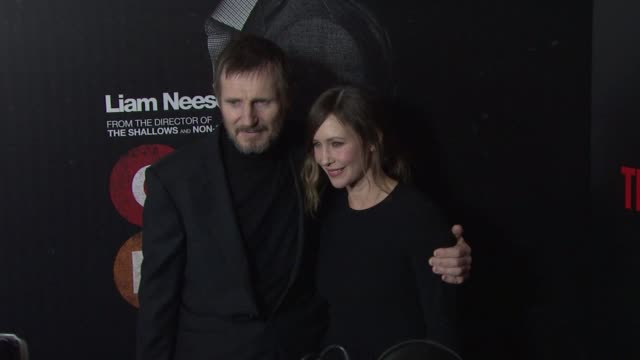 Liam Neeson Vera Farmiga at Lionsgate Presents the NYC Premiere of The Commuter at AMC Loews Lincoln Square on January 8 2018 in New York City
