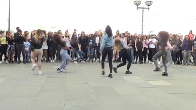 Liam Payne and Zedd take to the streets of Southwark to film the music video for their new song 'Get Low' Their dancers show his fans the routine