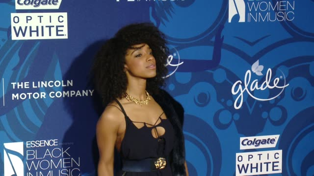 lianne la havas at 6th annual essence black women in music event honoring singer/songwriter/storyteller jill scott in los angeles, ca 2/5/15 - storyteller stock videos & royalty-free footage