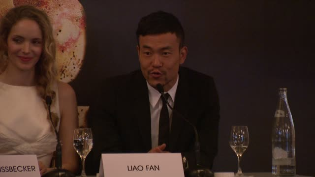 Liao Fan on being on set watching Jackie Chan on set at Chinese Zodiac Press Conference 65th Cannes Film Festival on May 18 2012 in Cannes France