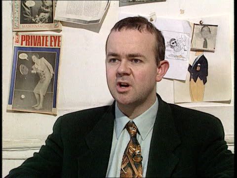 libel laws; int cms ian hislop intvw sof - aspect that should be changed is the responsibilty of jury to award the libel figure ext/night cms nadel... - ian hislop stock videos & royalty-free footage