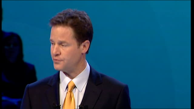 nick clegg keynote speech nick clegg mp annual conference speech continued sot climate change is the greatest challenge of our age no doubt about it... - new age stock videos & royalty-free footage