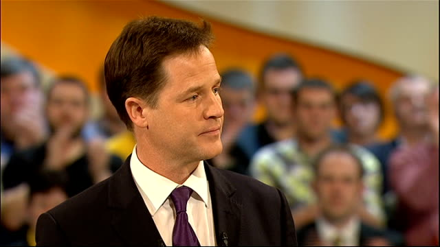 nick clegg speech nick clegg speech continued sot on saturday i met a group of young people working with a charity called uprising here in birmingham... - only young men stock videos & royalty-free footage