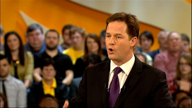 liberal democrat conference 2011: nick clegg speech; nick clegg speech continued sot - last year i walked through the door of number 10, but we all... - equal opportunities stock videos & royalty-free footage