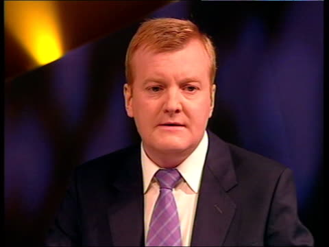 final day news at ten angus walker england brighton liberal democrats leader charles kennedy mp towards along street as press around track back int... - charles kennedy stock videos & royalty-free footage
