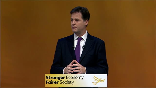 nick clegg keynote speech clegg speech sot of course the european union needs reform – no one is saying it doesn't but we cannot allow the... - equality now stock videos and b-roll footage