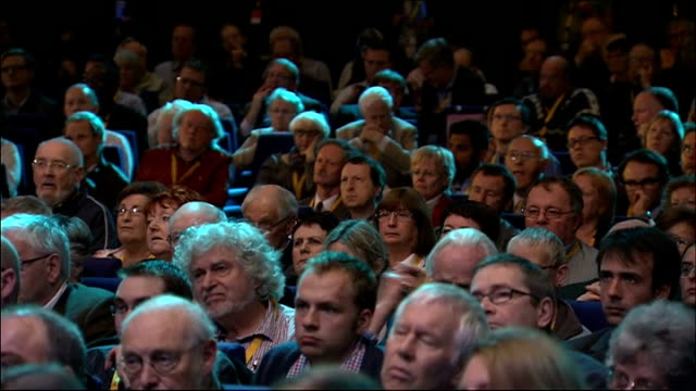 liberal democrat conference: nick clegg keynote speech; clegg speech sot - we're not trying to get back into government to fold into one of the... - prisoner education stock videos & royalty-free footage