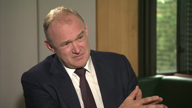 liberal democrat leader calls again for cressida dick's resignation; england: int set up shot with sir ed davey mp and reporter reporter question sot... - politics stock videos & royalty-free footage