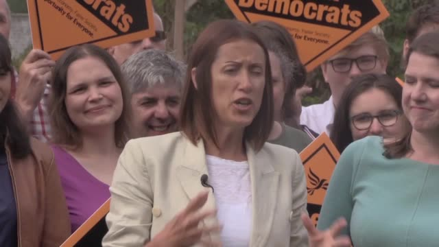 liberal democrat leader jo swinson joins new brecon and radnorshire mp jane dodds following her by-election victory. the liberal democrats won the... - mid wales stock videos & royalty-free footage