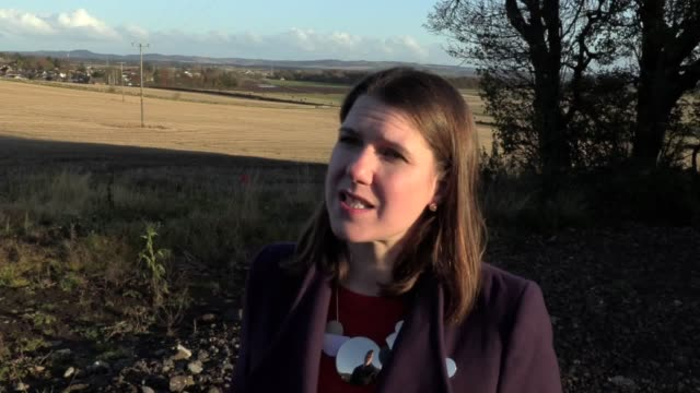 liberal democrat leader jo swinson speaking about scottish independence boris johnson's nhs plans and the proremain pact - british liberal democratic party stock videos & royalty-free footage