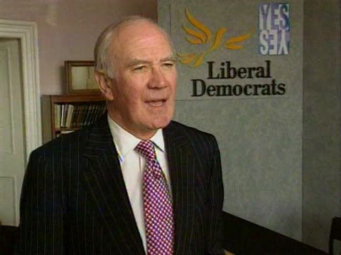 liberal democrat leader menzies campbell talks about how mrs thatcher has been the best recruitment sergeant for home rule in scotland - sergeant stock videos and b-roll footage