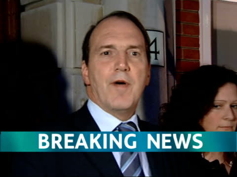"liberal democrat leader sir menzies campbell resigns; ""breaking news"" logo on screen throughout england: london: liberal democrats headquarters:... - raw footage stock videos & royalty-free footage"