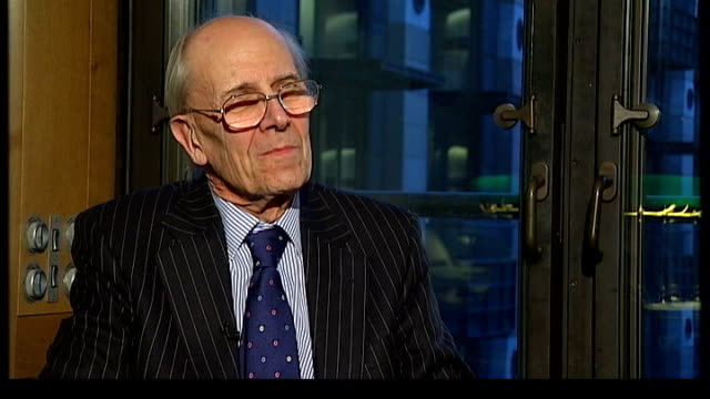 charles kennedy view charles kennedy greets lord tebbit in office and tebbit looking goldfish tank in corner of kennedy's office lord tebbit... - office politics stock videos & royalty-free footage