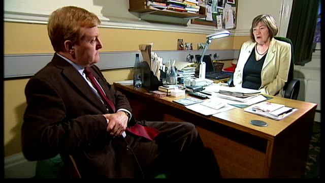 charles kennedy view houses of parliament charles kennedy into clare short's office clare short mp speaking to charles kennedy sot people looking at... - charles kennedy stock videos & royalty-free footage