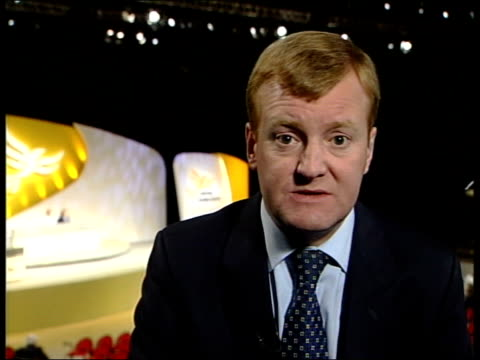 liberal democrat party conference itn brighton charles kennedy mp interviewed sot we need evidence before the united nations security council who... - charles kennedy stock videos & royalty-free footage