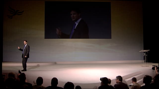 nick clegg keynote speech 3148 pages worth in fact at a best guess that's about 18 million words that is three times as long as war and peace or... - keynote speech stock videos and b-roll footage