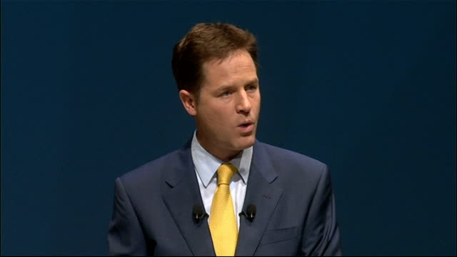 nick clegg keynote speech nick clegg speech continued sot people who avoid and evade paying their taxes will no longer get away with it either we all... - paying taxes stock videos & royalty-free footage