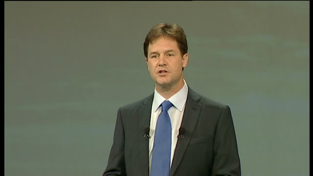 nick clegg keynote speech so let me set out right now our fairer future economic recovery plan four steps to a better economic future one action to... - face down stock videos & royalty-free footage