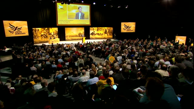 nick clegg qa session england east sussex brighton int nick clegg mp q - east sussex stock videos & royalty-free footage