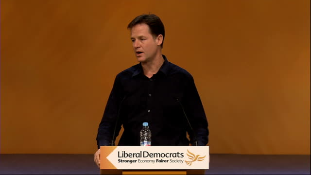 nick clegg qa session scotland glasgow int nick clegg mp q something very close to my heart the completion of the coastal path lots of people who... - prime minister stock videos & royalty-free footage