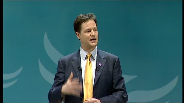 nick clegg speech c as liberals we believe in an open society where the power to shape your own future is in your hands where all roads are open to... - things that go together stock videos & royalty-free footage