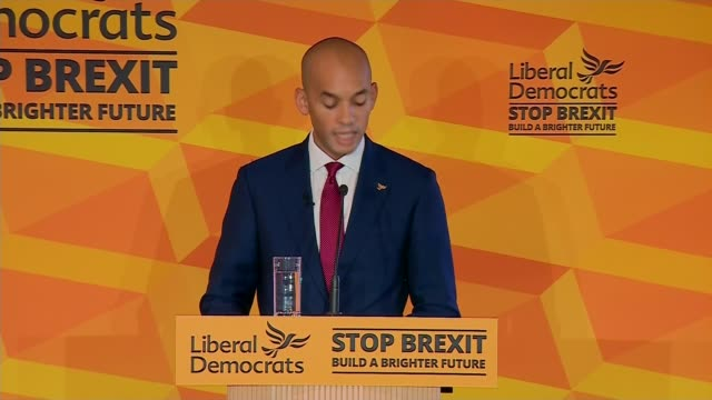 liberal democrats accuse prime minister of being 'authoritarian'; england: watford: int chuka umunna speech sot - uk prime minister is following the... - ポピュリズム点の映像素材/bロール