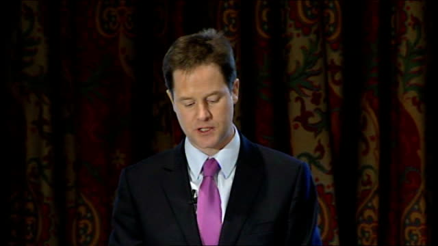 Liberal Democrats announce tax plans for next general election Nick Clegg and Vince Cable speeches Clegg speech SOT We're raising 26 billion pounds...