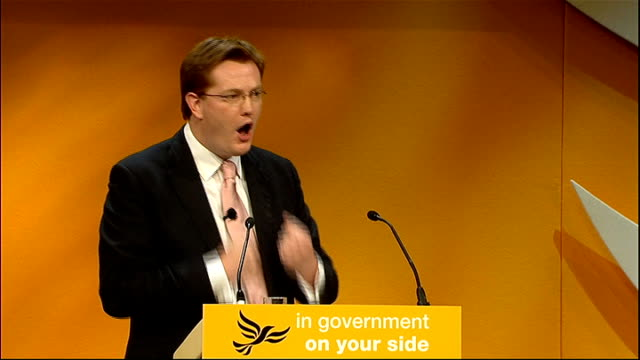 Liberal Democrats Annual Party Conference 2011 Danny Alexander speech Applause Alexander speech SOT Economic credibility comes from doing the right...