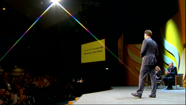 Nick Clegg opening address Clegg speech SOT But we can't have all our fights in public While times are hard while people are struggling the last...