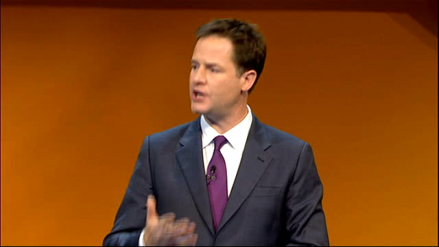 Nick Clegg opening address Clegg speech SOT So The Liberal Democrats are a family There are those who wish to drive a wedge between us – our...
