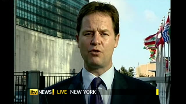 Cable attacks banks ENGLAND London GIR INT Nick Clegg MP 2 WAY interview from United Nations in New York SOT Vince Cable is right you need a properly...