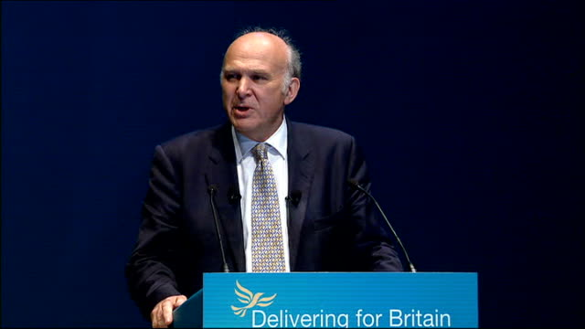 cable attacks banks int vince cable mp speech sot conference comrades i've managed to infuriate the bank bosses i've had a fatwa from the... - financial accessory stock videos and b-roll footage