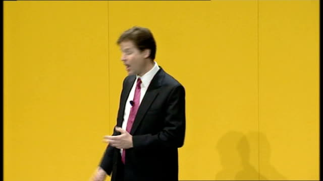 nick clegg delivers first major speech as leader third let's design a new political system for the 21st century it shouldn't be hammered out in... - speech bubble stock videos & royalty-free footage